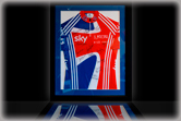 Sports shirt framing at Fulwood Gallery