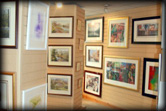 Inside the gallery at Fulwood Gallery