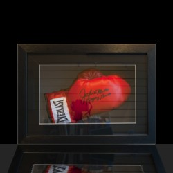 Another framed boxing glove example
